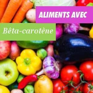 Aliments riches en Bêta-carotène