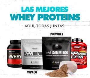 Las mejores Whey Proteins aquí todas juntas